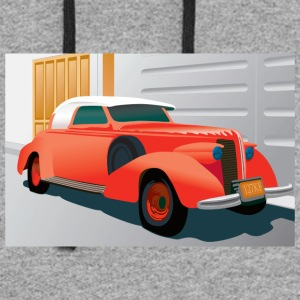 RED BUICK 1938 SPECIAL CONVERTIBLE - Colorblock Hoodie