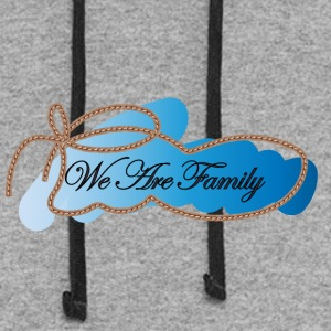 We are family - Colorblock Hoodie