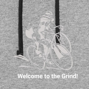 Welcome to the Grind. Roadbike. Cyclocross. - Colorblock Hoodie