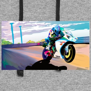 MOTORCYCLE IN MOTION - Colorblock Hoodie