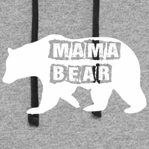 Mama Bear Mothers Day - Colorblock Hoodie