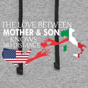 Mother & Son Love Knows No Distance US & Italy - Colorblock Hoodie