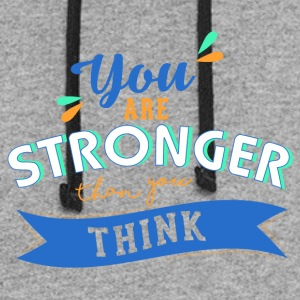 You are stronger than you think 01 - Colorblock Hoodie