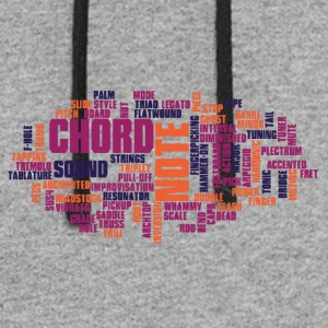 Guitar Word Cloud - Colorblock Hoodie