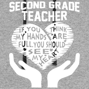 Second Grade Teacher T Shirt - Colorblock Hoodie