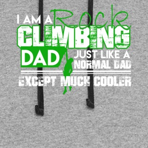 Cooler Dad Rock Climbing Shirt - Colorblock Hoodie