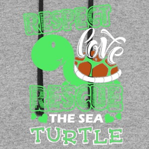 Sea Turtle Shirt - Colorblock Hoodie