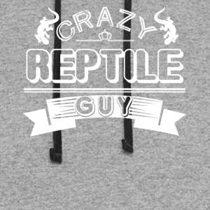 Crazy Reptile Guy Shirt - Colorblock Hoodie