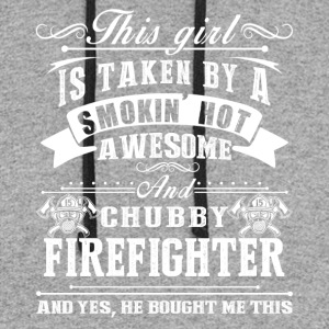 Smokin Hot Awesome Firefighter Shirt - Colorblock Hoodie