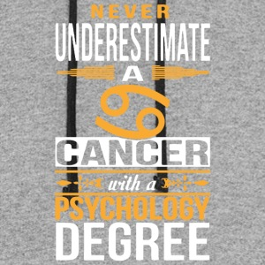 A Cancer With Psychology Degree T Shirt - Colorblock Hoodie