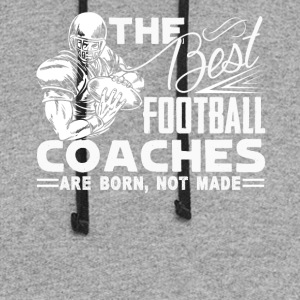 BEST FOOTBALL COACHES SHIRT - Colorblock Hoodie