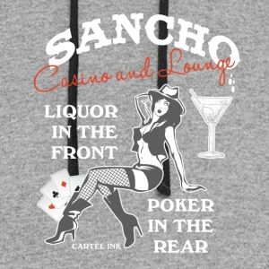 Sancho casino and lounge Liquor in the front - Colorblock Hoodie