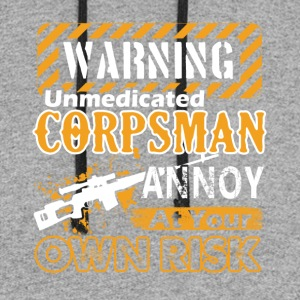 Warning Corpsman Shirt - Colorblock Hoodie
