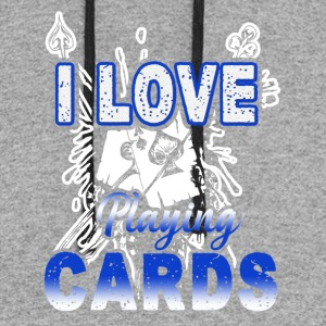 I Love Playing Cards Shirt - Colorblock Hoodie