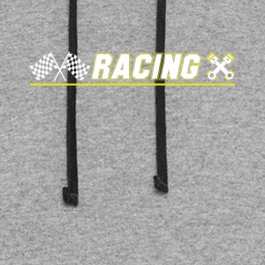 Cool Graphic Racing Tee Shirts - Colorblock Hoodie