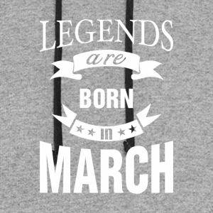 Legends are born in March - Colorblock Hoodie