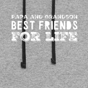 Papa and grandson best friends for life - Colorblock Hoodie