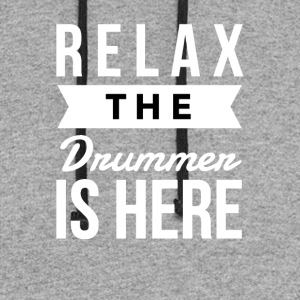 Relax the drummer is here - Colorblock Hoodie