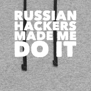 Russian hackers made me do it - Colorblock Hoodie