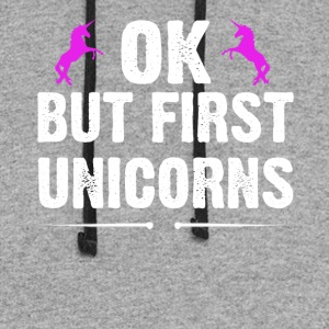 OK But First Unicorns - Colorblock Hoodie