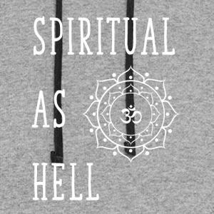 Spiritual as hell - Colorblock Hoodie