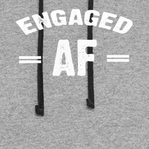 Engaged AF T-shirt - Colorblock Hoodie
