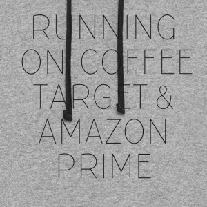 Coffee, Target & Amazon Prime - Colorblock Hoodie