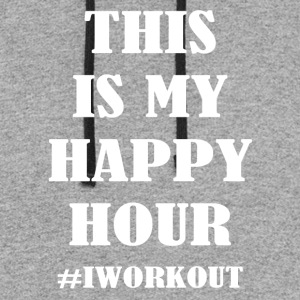 This is my happy hour #IWORKOUT - Colorblock Hoodie