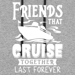 Friends Cruise Together Tee Shirt - Colorblock Hoodie