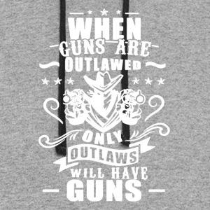 When Guns Are Outlawed Tshirt - Colorblock Hoodie