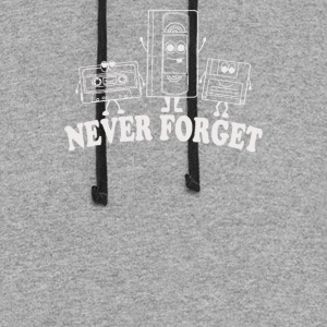 Never Forget Retro VHS Floppy Disc Cassette - Colorblock Hoodie