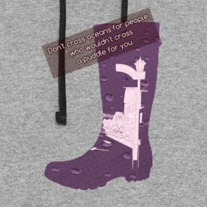 Gummy Boot lilac - Colorblock Hoodie