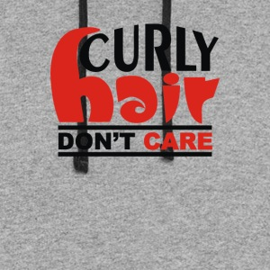 Curly Hair Don t Care - Colorblock Hoodie