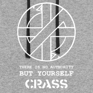 Crass There Is No Authority But Yourself - Colorblock Hoodie
