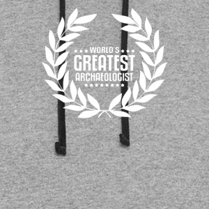 World's Greatest Archaeology Archaeologist - Colorblock Hoodie