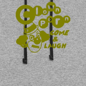 Clown Porn Come Laugh - Colorblock Hoodie
