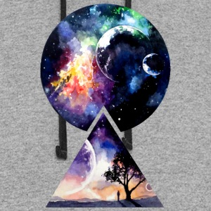 Galaxy - We are all Made of Star Stuff - Colorblock Hoodie