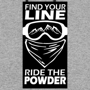 find your line ride the powder black - Colorblock Hoodie