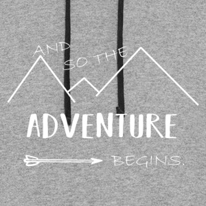 And so the adventure begin! - Colorblock Hoodie