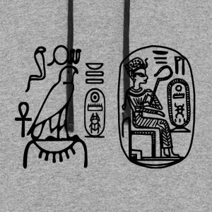 Egyptian Seals Thutmosis Ancient Egypt Hieroglyph - Colorblock Hoodie