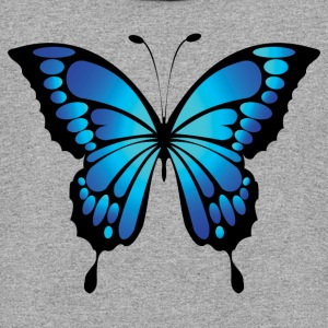 Bright blue butterfly - Colorblock Hoodie