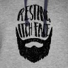 Resting Itch Face - Funny Beard PUn - Colorblock Hoodie