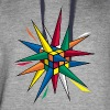 Rubik's Cube Colourful Spikes - Colorblock Hoodie