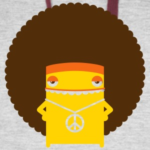 A Hippie With An Afro - Colorblock Hoodie