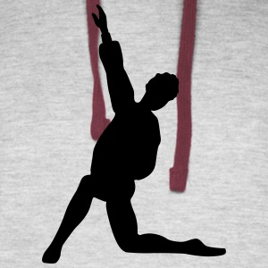 Vector Ballet dancer Silhouette - Colorblock Hoodie