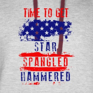 Time To Get Star Spangled Hammered Flug - Colorblock Hoodie