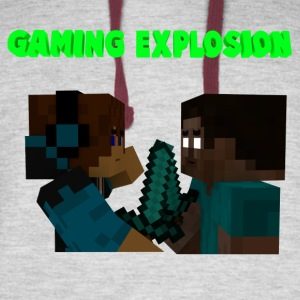 Gaming Explosion Herobrine vs Smooth__YT - Colorblock Hoodie