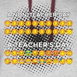 Non Teacher Day VS. Teacher's Day :-) Funny Smiley - Colorblock Hoodie