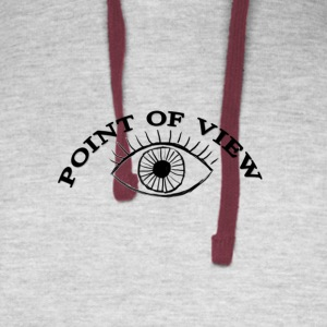 Point Of View Eye Design - Colorblock Hoodie