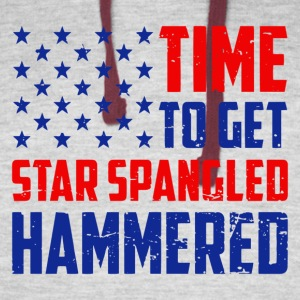Time To Get Star Spangled Hammered - Colorblock Hoodie